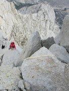 Rock Climbing Photo: Scrambling up the North Ridge