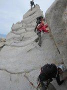 Rock Climbing Photo: Downclimbing 4th class section