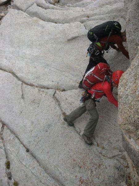 Rock Climbing Photo: Downclimbing