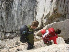 Rock Climbing Photo: Lots of downclimbing