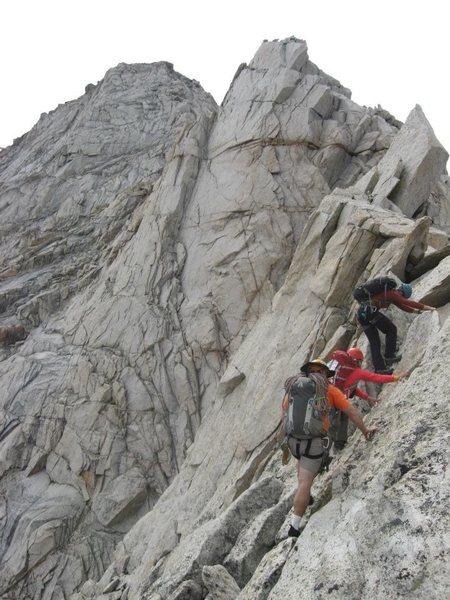 Heading up the North Ridge