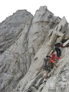 Rock Climbing Photo: Heading up the North Ridge