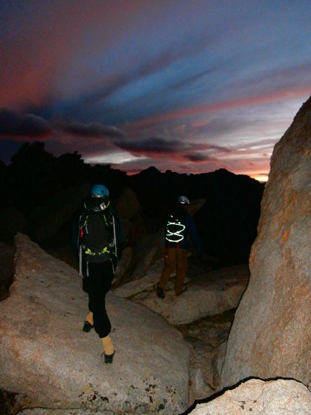 Rock Climbing Photo: Our Descent