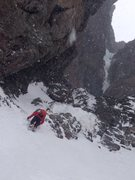 Rock Climbing Photo: approaching the upper pitches of Avy gulch