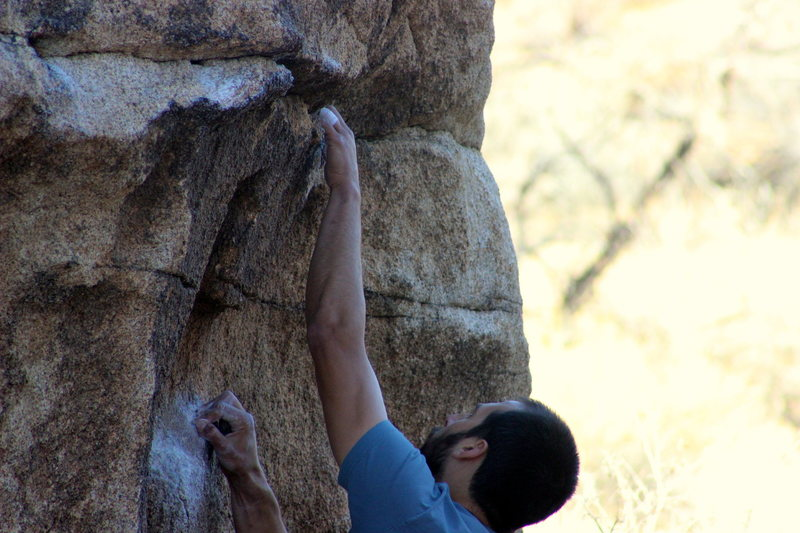 Rock Climbing Photo: The enjoyable first moves of Lunge For It. From he...