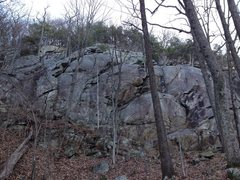 Rock Climbing Photo: Topo view of the Lowers at Mt Yonah