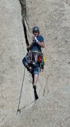 Rock Climbing Photo: Drinking a beer on while leading Jumping Jehosepha...