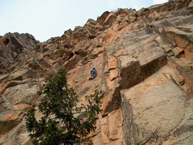 Rock Climbing Photo: FA of Expanding Man.   Taken by Tom Kelley, Feb. 2...