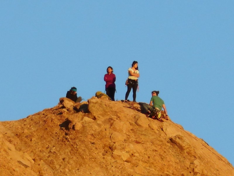 Rock Climbing Photo: A party in the making on the summit of the Elephan...