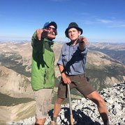 Rock Climbing Photo: Gabe and I on Antero (2014)