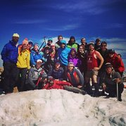 Rock Climbing Photo: W.E. Staff on top Elbert (2013)