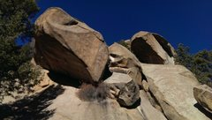 Rock Climbing Photo: A view of the Bad Juju Roof from the southeast. Th...