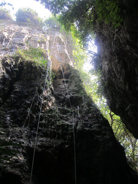 Right side of main wall, including the first trad climb in Kaohsiung