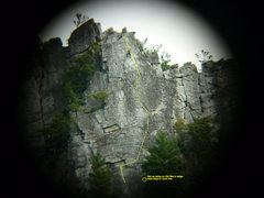 Rock Climbing Photo: Back to the Front, start at wide right facing corn...