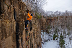 Rock Climbing Photo: Not over 'til it's over. Nate Erickson on finish m...