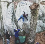 Rock Climbing Photo: Marshall is too stoked to handle Jamie's burn on F...