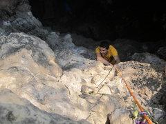 Rock Climbing Photo: Looking down on Alex