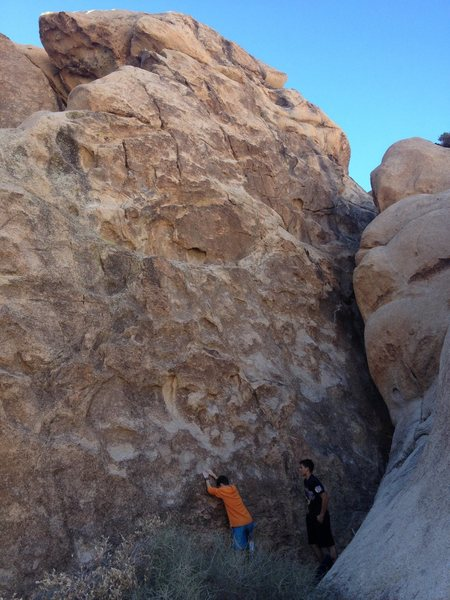 Rock Climbing Photo: wall on southside of first canyon you come to from...
