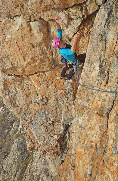 Rock Climbing Photo:     Tamara Anderson climbing the classic route Tay...