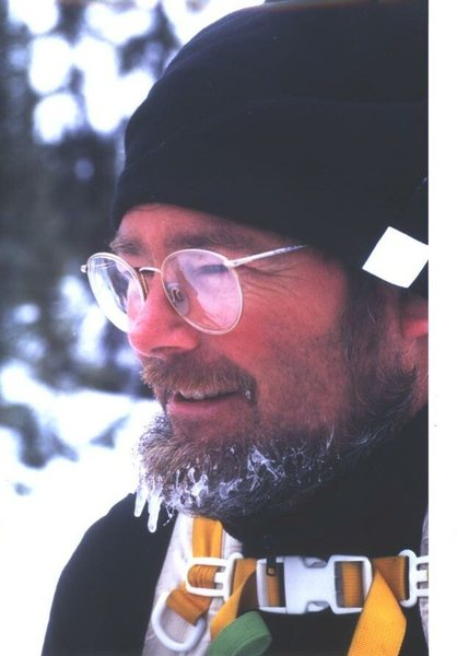 Here is the original Valdez Ice Fest host Andrew Embick. It was the vision and drive of dedicated climbers like Andy, Brian Teal, Chuck Comstock, Carl Tobin, Roman Dial, Bob Pudwill, Jim Sweeney, Steve Garvey and many many more that made climbing in Alaska what it is today. We thank all of you for the countless contributions to our beloved sport.