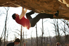 Rock Climbing Photo: David Hug working Devil on a Leash