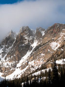Rock Climbing Photo: Steep Is Flat, with approach marked by the dashes ...