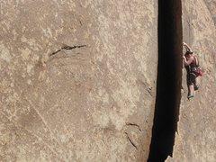 Rock Climbing Photo: Christine Hoenigmann climbing  TG