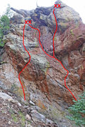 Rock Climbing Photo: Deadwood Direct is the right line.