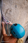 Rock Climbing Photo: Aaron Livingston finds trad placements all the way...
