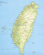 Rock Climbing Photo: Detailed map of Taiwan