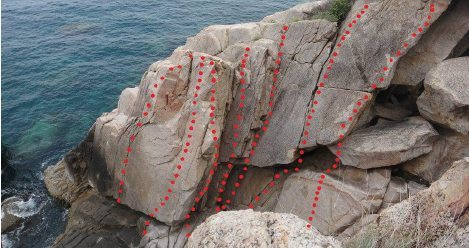 13m Sport lead 5c 6bolts or , super nice trad HVS.  Easy scramble up to the crack then jam away .