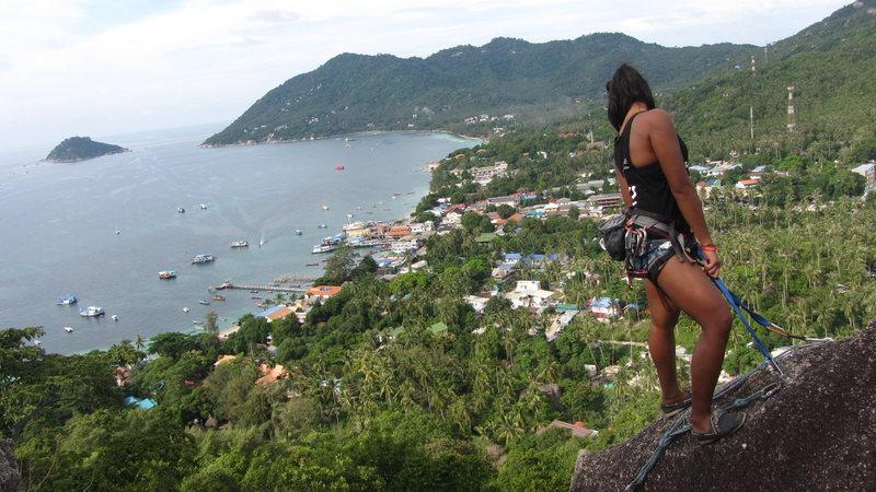 Beautiful views from the top of Machetey Mountain .