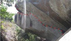 Rock Climbing Photo: Realization 7b  10m long 8m high .  6 bolts.  Ther...