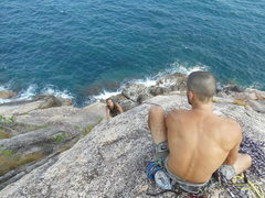 Rock Climbing Photo: Dave and i searching for new climbs . Always on th...