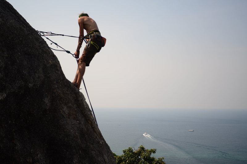 Rock Climbing Photo: Constantly searching for new routes on koh tao. Ro...