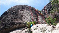 Rock Climbing Photo: Easy access 4/5a super easy 2 bolts (originally bo...