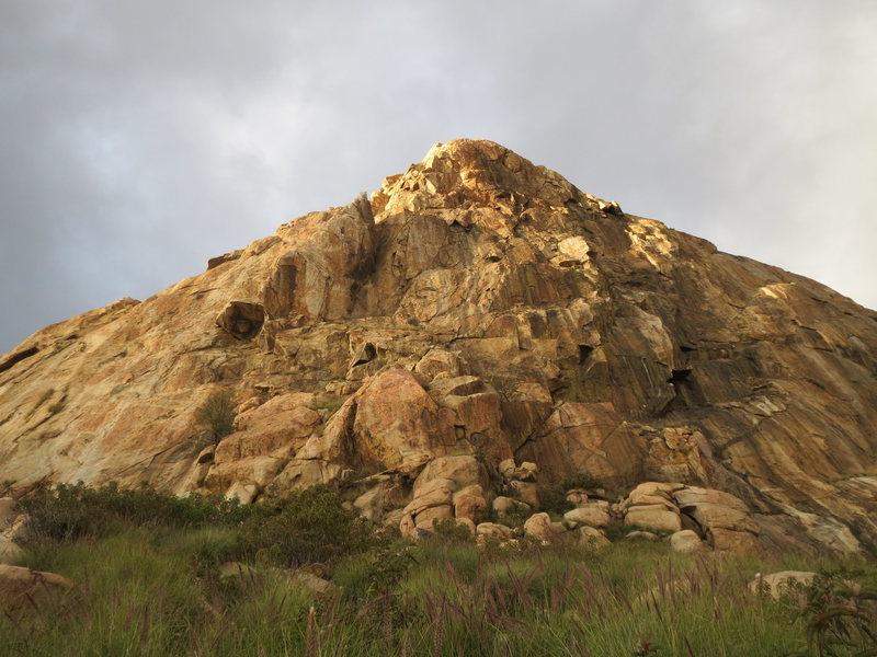 Rock Climbing Photo: Another morning shot of the main wall