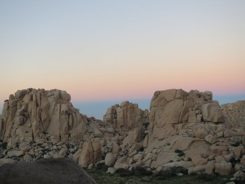 Rock Climbing Photo: Sunset among the formations