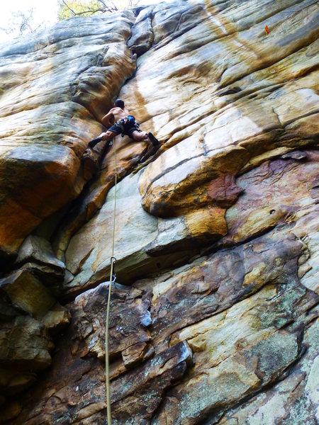 Rock Climbing Photo: preparing for battle