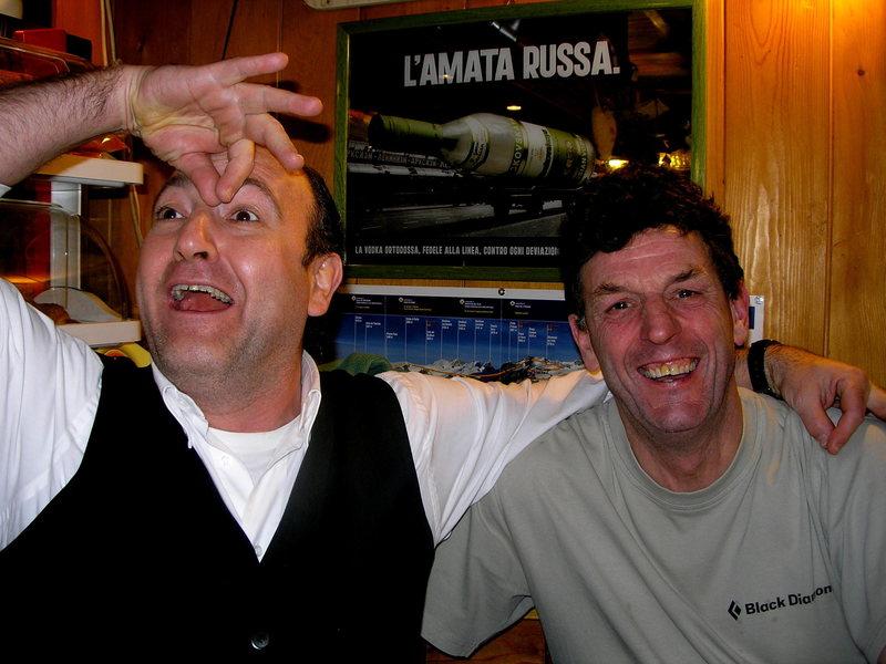The best barman in Italy, Gressoney, Aosta.