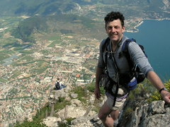 Rock Climbing Photo: Atop Lake Garda via ferrata, Italy