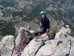 Rock Climbing Photo: Atop first climb after retirement, Alicante, Costa...