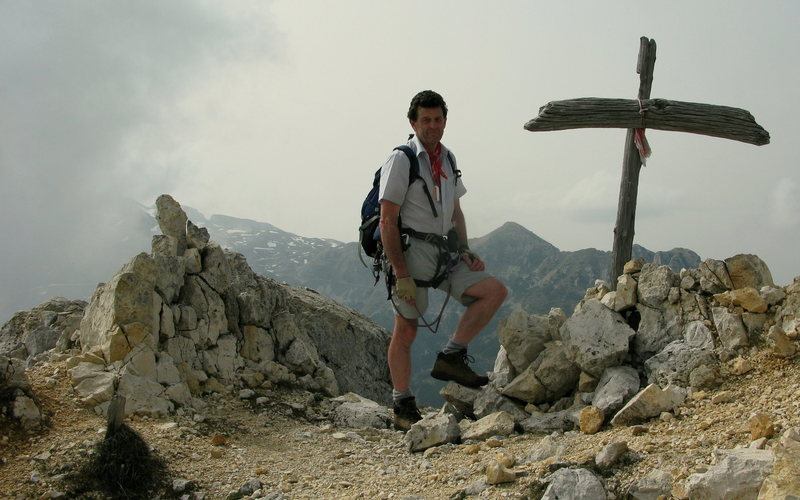 Top of Trento via ferrata, Italy