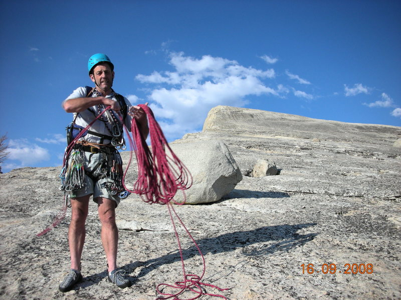 End of climb, Tuolomne Meadows