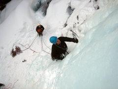 Rock Climbing Photo: Les Formes de Chaos top pitch, Ceillac, Ecrins, Fr...