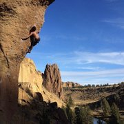 Rock Climbing Photo: Chain Reaction, 12c, smith rocks