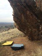 Rock Climbing Photo: The warm up boulder.