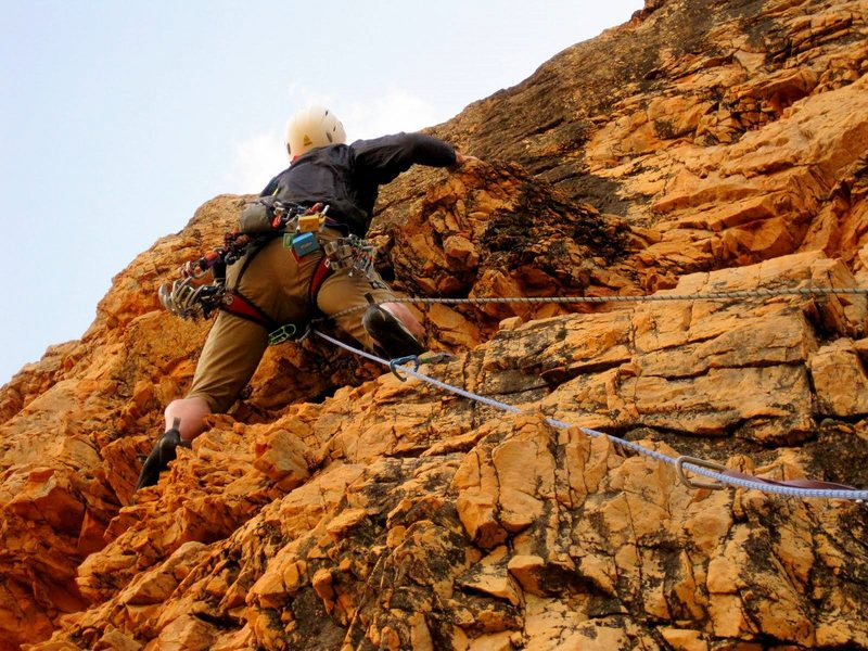 Woody Sez, Fylde Crag, Anti-Atlas, Morocco. First ascent