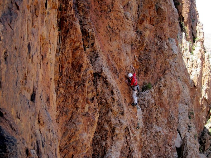 No Country For Old Men, Octet Cliff, Anti Atlas, Morocco. First ascent
