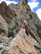 Rock Climbing Photo: Via ferrata, Jegihorn, Saas Grund, Switzerland